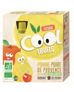 Cool fruits Manzana-Pera (4x90gr)